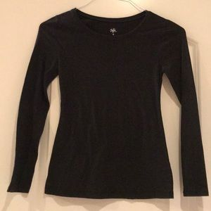 Girls Justice Black Long-sleeves tee - size 12